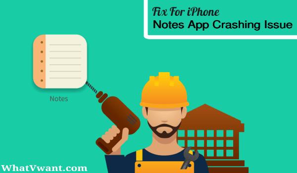 iphone notes app crashing