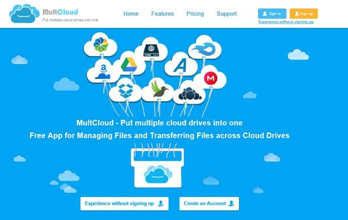 multcloud-home-page-use-multcloud-to-manage-multiple-cloud-storage-accounts