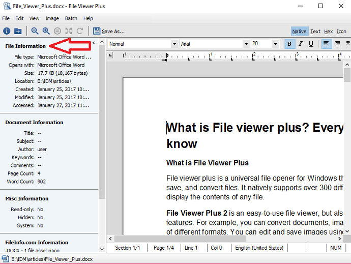 fileviewer plus information