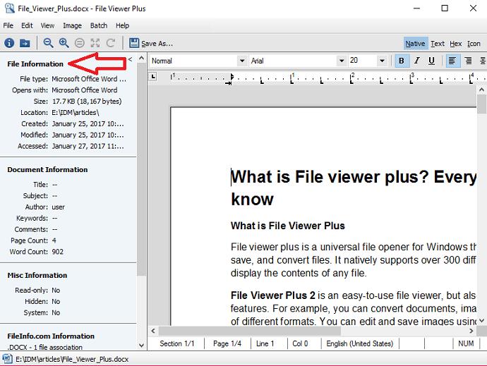 fileviewer plus information