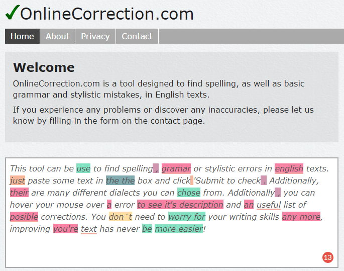 check grammatical error online