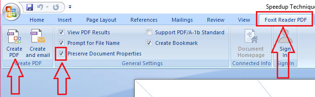 convert word to pdf by preserving hyperlinks using foxit reader
