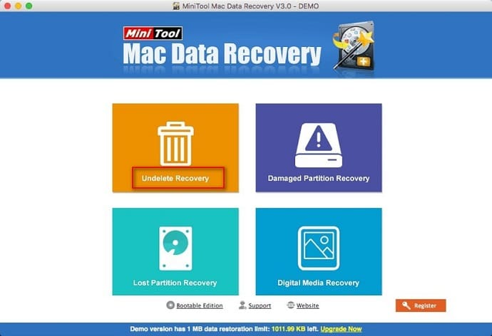 Recover deleted files on Mac hard drive