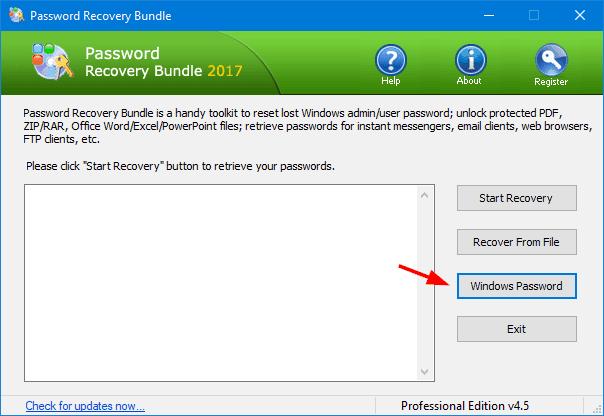 Reset Windows 10 Login Password