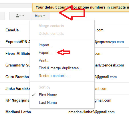 8 Simple Steps To Export Gmail Contacts - Whatvwant