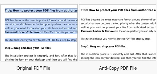 anti copy pdf files