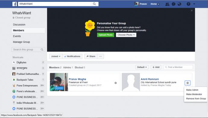 Delete Facebook group