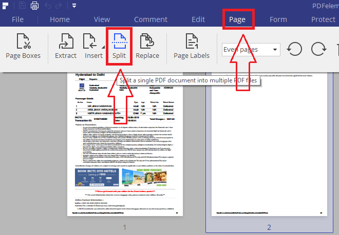 split pdf files with pdfelement