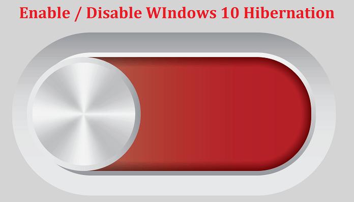disable windows 10 hibernation