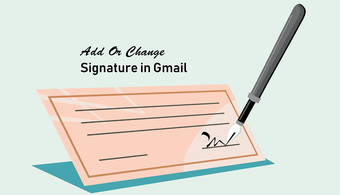 Change signature in Gmail