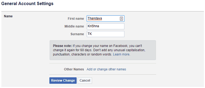chamge-facebook-name
