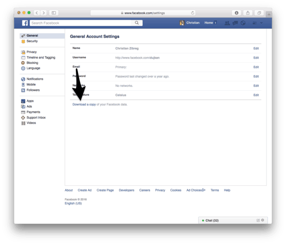 2 ways to delete facebook account permanently whatvwant download facebook data ccuart Gallery