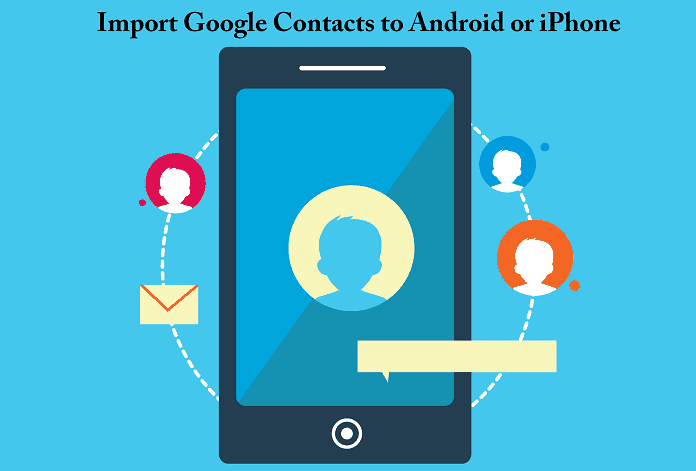 Import google contacts to phone