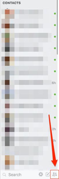 fb group chat desktop option