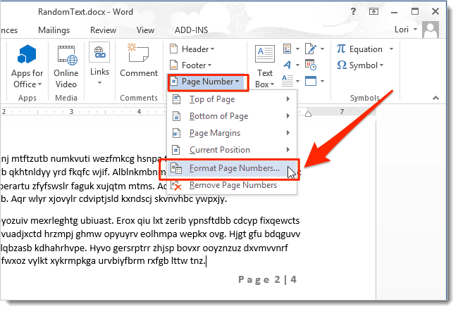 easy way to Remove Page Number