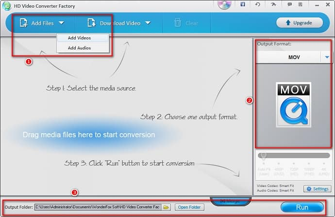 Convert Video with Wonderfox Free HD video converter