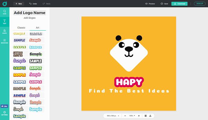 Customize Logo In DesignEVo